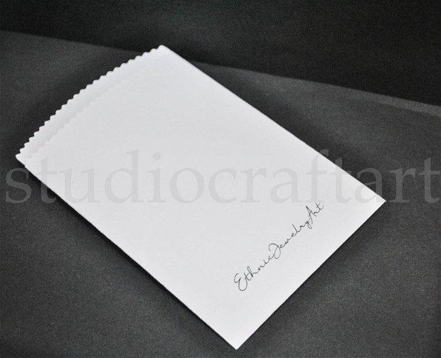 Set 20 pungute mari cu logo sau text personalizat print alb- negru