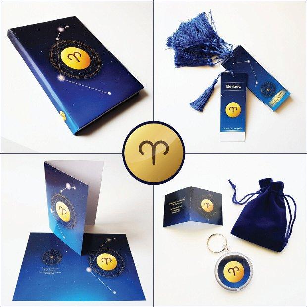 BERBEC - Set cadou (breloc + saculeț + felicitare) - Colecția Zodiac