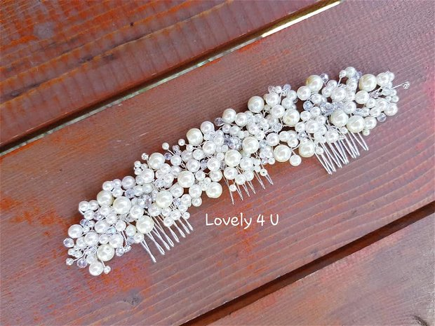 SABRINA - Diadema cu perle si cristale - Accesoriu de lux