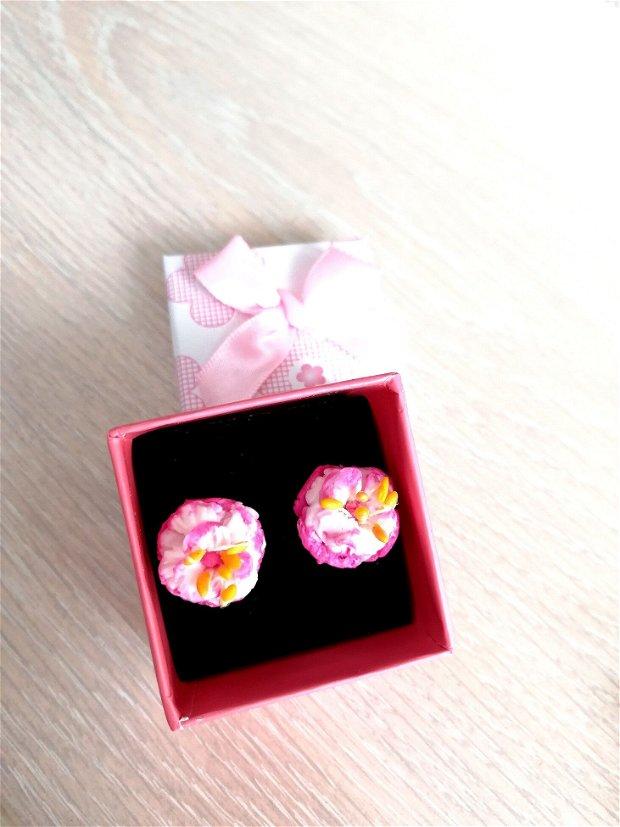 Cercei din argint- Flori de cires japonez