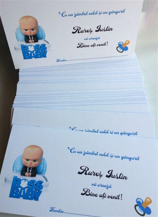 Invitatie botez baietei-Baby Boss