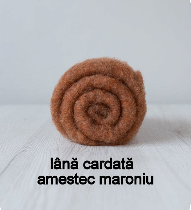 lana cardata-amestec maroniu
