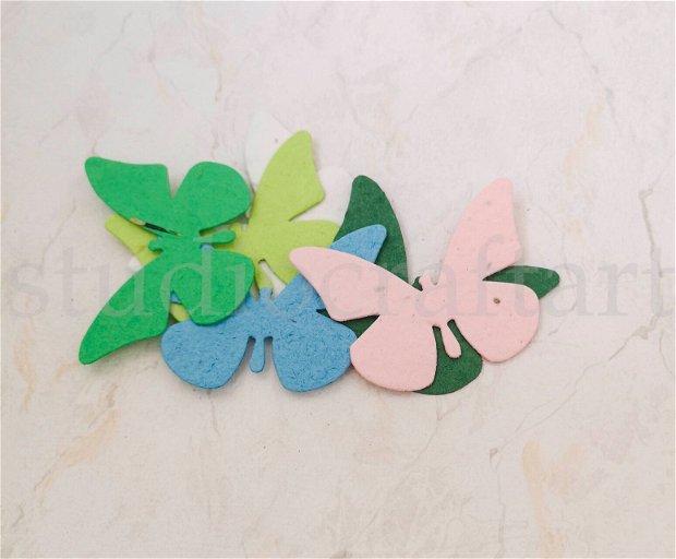 20 buc. fluturi hartie plantabila ( cu seminte de flori ) - taguri