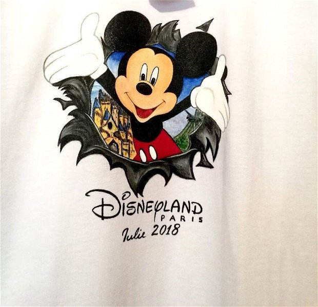 Tricou pictat Mickey Mouse