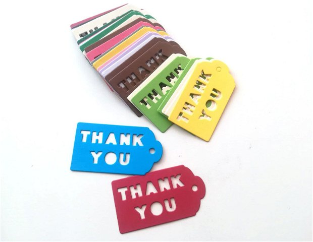 Etichete. Etichete produs. Etichete colorate cu mesajul Thank you
