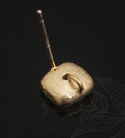 Tortite cercei placate cu aur 8.*8 mm