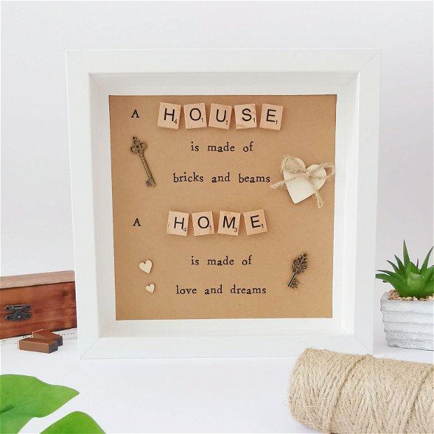 Tablou decor casa | Tablou cu mesaj motivational | Rama decorativa | Decoratiune casa | Cadou motivational