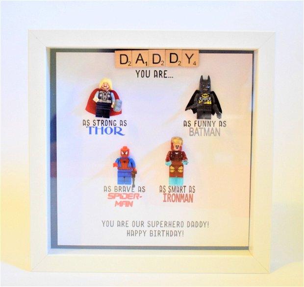 Shadow Box eroi - cadou tata SuperEROU
