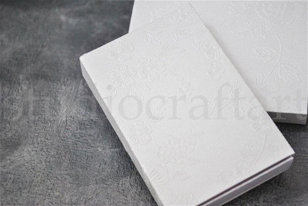 Set 10 cutii albe din carton