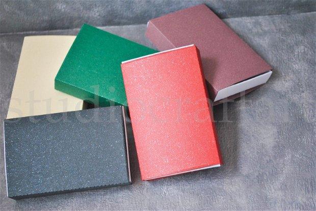Set 5 cutii carton cu sclipici