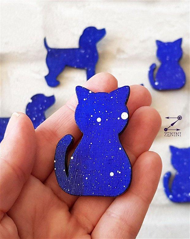 Brosa catel, brosa pisica, brosa galaxie, brosa albastra, brosa cu picatele
