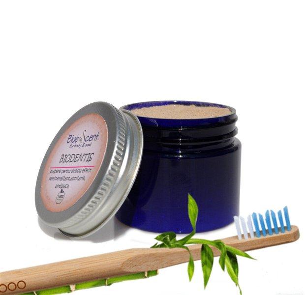 Biodentis-pasta de dinti naturala,pulbere,cu efect remineralizant,anticarie,antiplaca-BlueScent