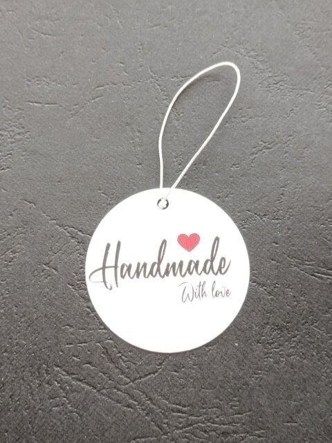 "LE33 - etichete model ""Handmade with love"""