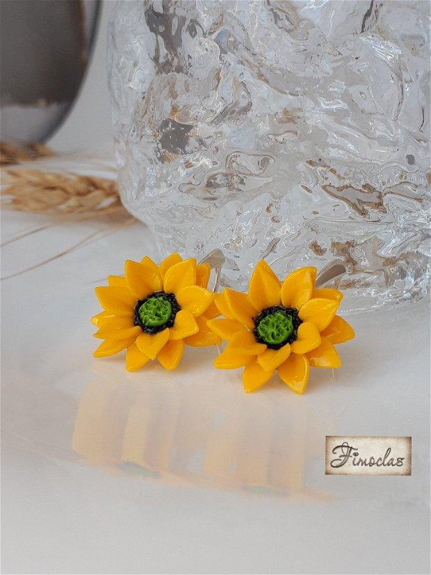 Set argint floarea soarelui