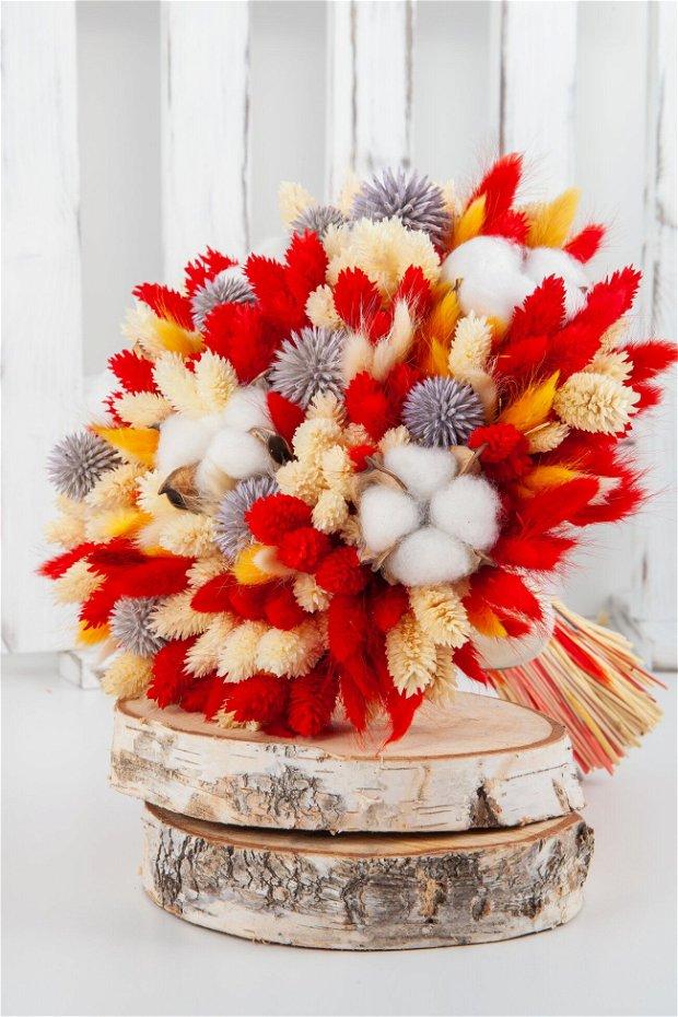 Buchet cununie, flori uscate