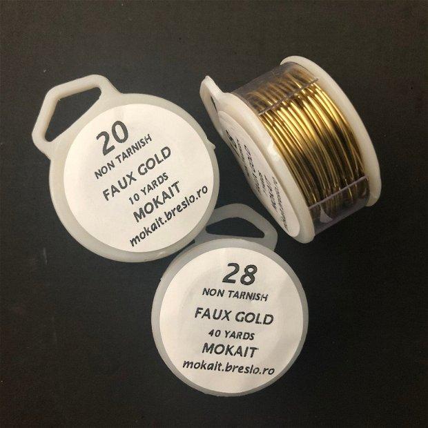 Sarma modelaj rotunda faux gold 18-28 gauge