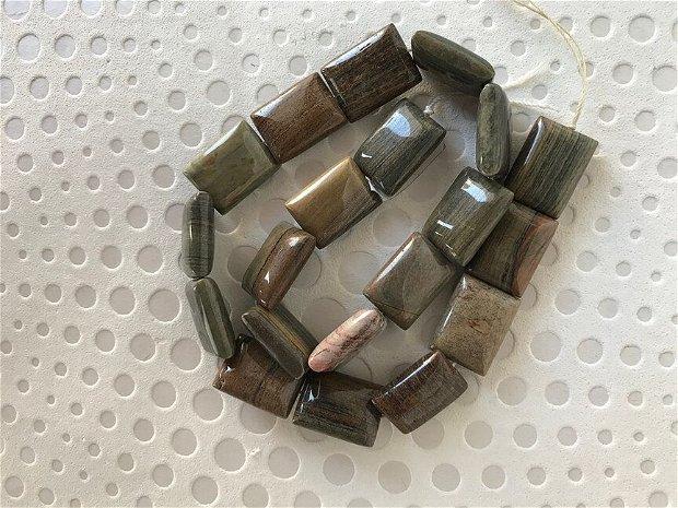 Jasp silver dreptunghiular 2x1,5 cm