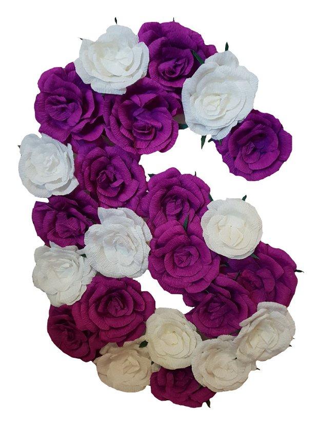 Cifra volumetrica 6 lila, ciclam, mov