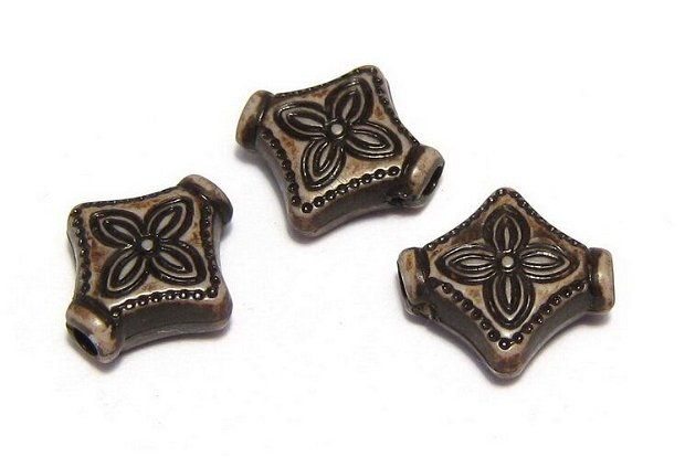 Margele din acril, antic style, 10x10 mm