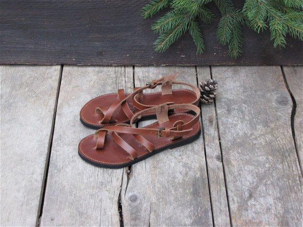 Sandale piele