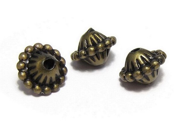 Margele din acril, antic style, 9x12 mm