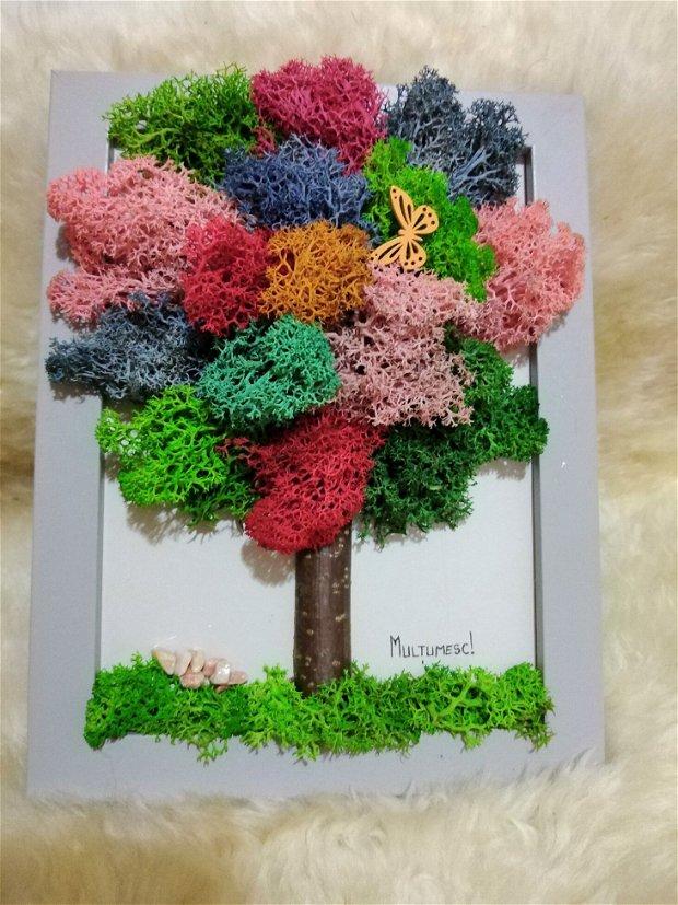 Tablou pom cu licheni