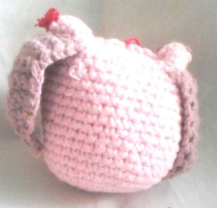 Bufnita roz pal cu aripi roz inchis 15 lei