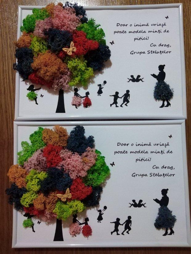 Tablou licheni educatoare/invatatoare