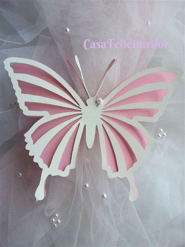 Fluture decorativ, mare, dantelat (model 3).