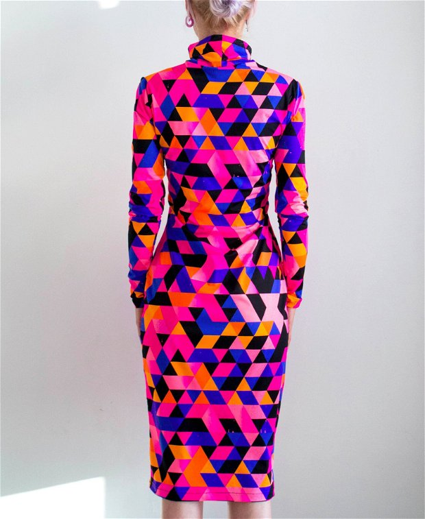 Rochie MiDi Geometric Print