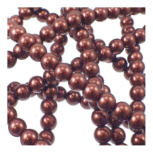 40 Buc perle din sticla maro