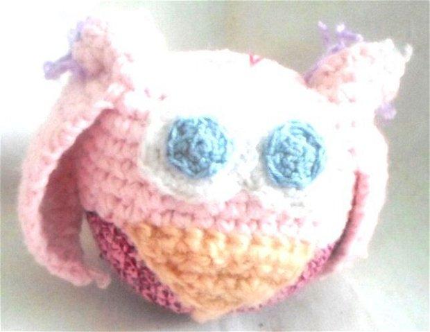 Bufnita roz  pal si roz deschis si inchis cu aripi roz  pal 15 lei
