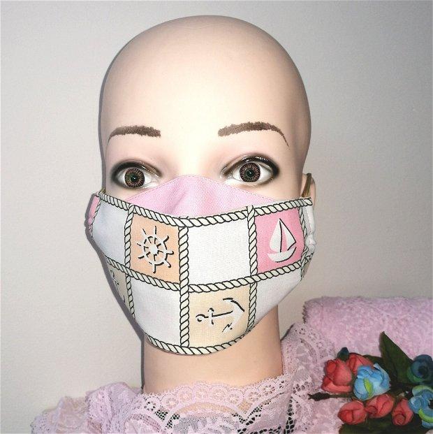 Mască reutilizabila din bumbac adulți/copii