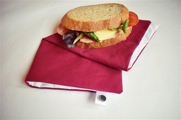 Șervețel eco - ambalaj lavabil cu arici pentru sandwich, gustări, alimente