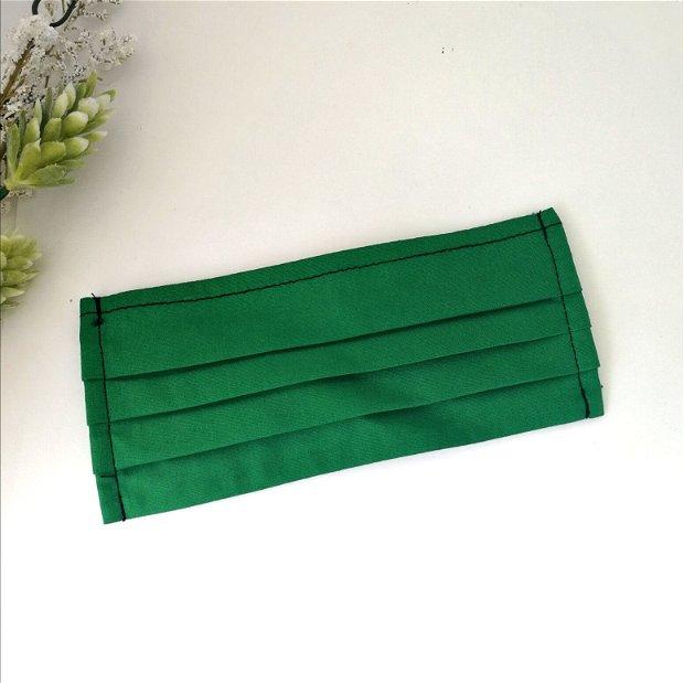 Masca din bumbac, culoare verde brad