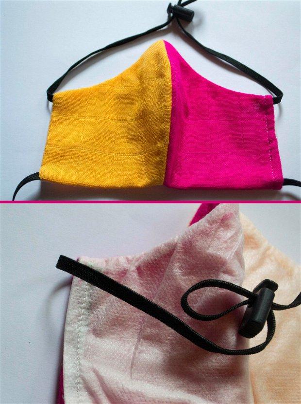Masca Bambus Pink&Yellow
