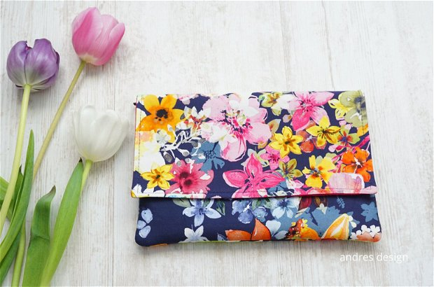 Geanta Plic Flori Colorate