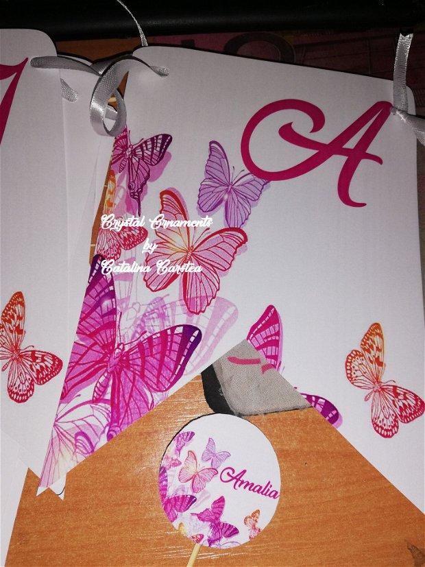 Decoratiuni candy bar/ toppere prajituri fluturi