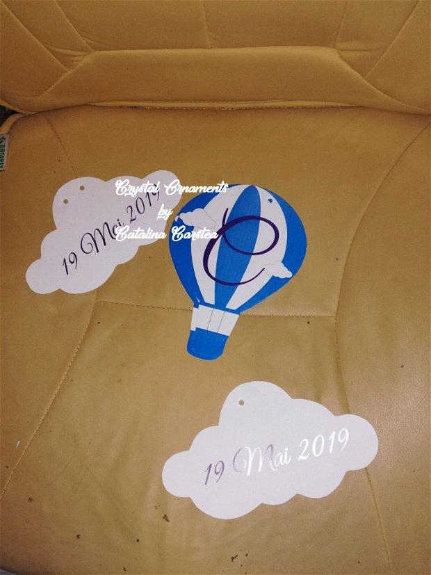 Decoratiuni candy bar/ toppere prajituri nori si balon cu aer cald