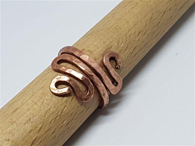 Inele reglabile, inel din cupru , inel lucrat manual.