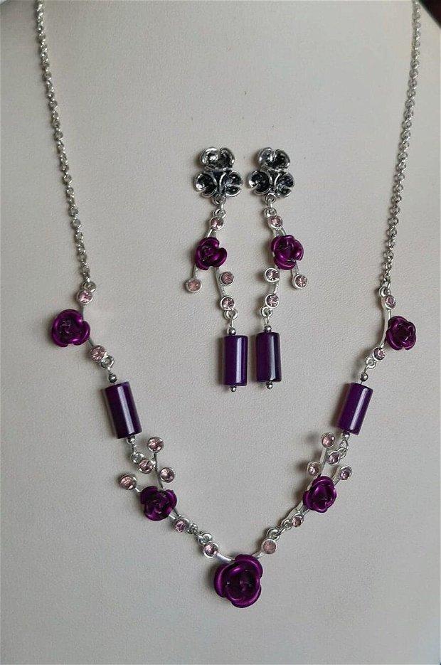 Violet Roses ~ Vintage & New