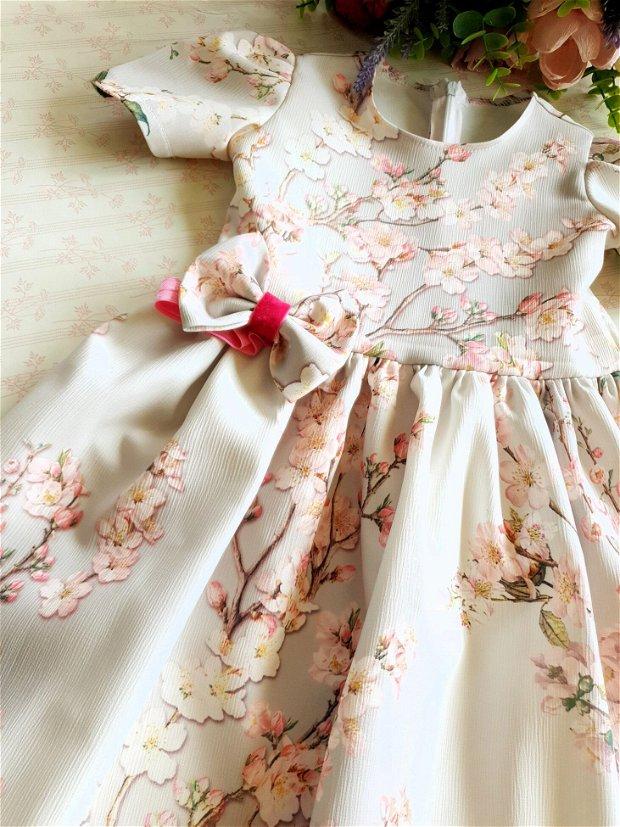 Set Rochii Mama Fetita, Tinute Asortate Flori de Cires