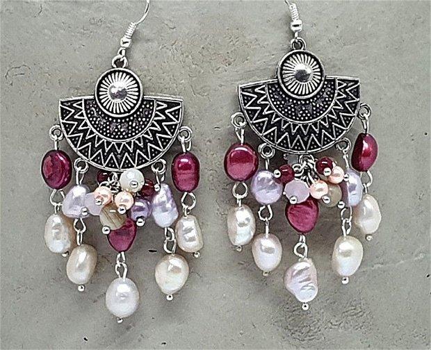 Cercei zamac /perle de cultura