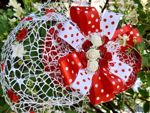 Fascinator Red Dots