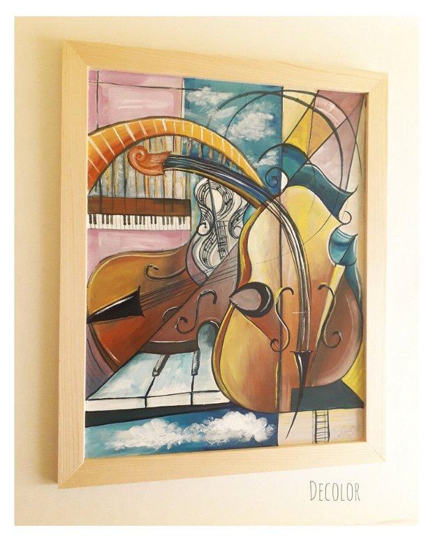 Orchestra | Tablou | Pictură pe lemn