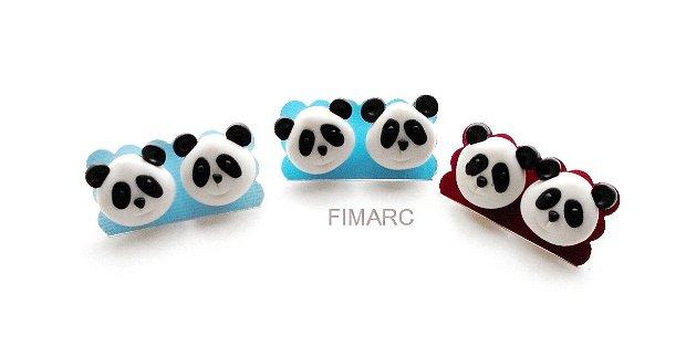 Panda - cercei pe ureche