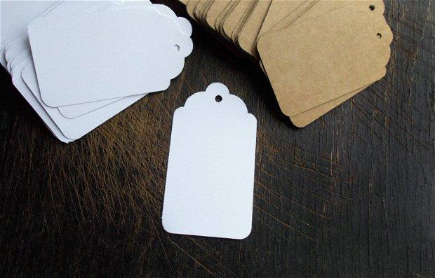 Etichete / Tag-uri  Carton Alb - [ 7 x 3.5 cm ]