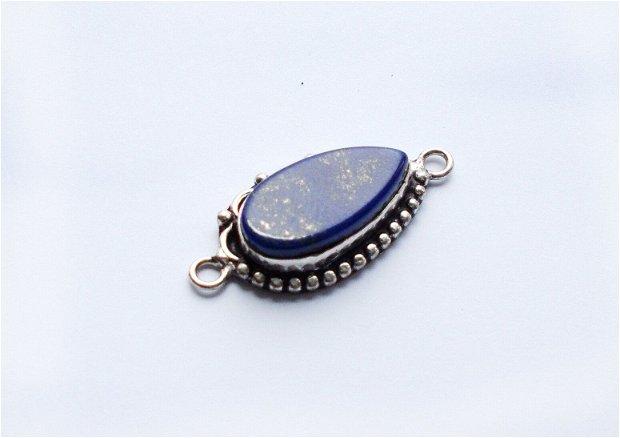 Link cu Lapis Lazuli in rama argintata
