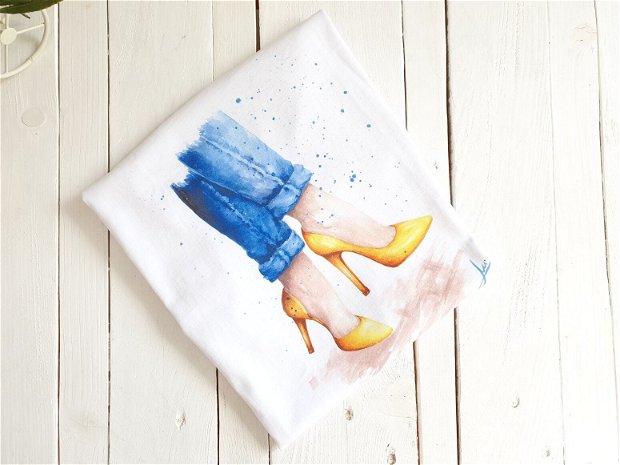 "Tricou ""Take me out"" - bumbac organic premium, pictura priginala"