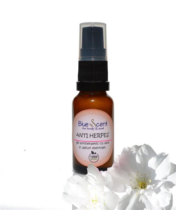 Anti-Herpes-gel antiherpetic cu aloe si uleiuri esentiale-BlueScent